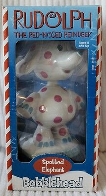 Rudolph the Red-Nosed Reindeer Spotted Elephant Bobblehead Figure NIB!
