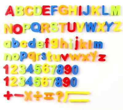 magnetic letters numbers and math symbols educational refrigerator magnet set