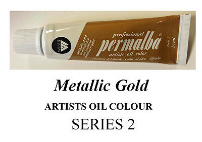 PERMALBA ARTISTS OIL COLOUR 37ml TUBEMETALLIC GOLD  SERIES 2 DUCKPOND