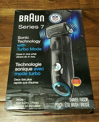 New BRAUN Series 740s-7 Sonic Technology with Turbo Mode Wet & Dry Shaver SAVE