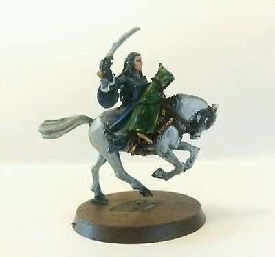 games workshop  lotr Lord of the Rings metal Arwen and frodo mounted