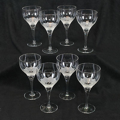 8 x Crystal Rosenthal 'Lotus Blossum' Wine Glasses PERFECT COND. RRP US$59.99 ea