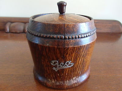 Vintage Oak Tea Caddy