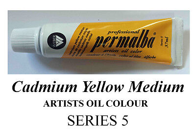 PERMALBA ARTISTS OIL COLOUR 37ml TUBE CADMIUM YELLOW MEDIUM  SERIES 5 DUCKPOND