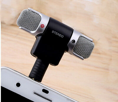 Mini Microphone Digital Stereo for Recorder PC Mobile Phone Laptop Portable Mic
