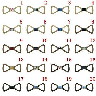 Mens Boys Hollow Out Wood Bowtie Butterfly Adult Kids Wooden Bow Ties Gifts