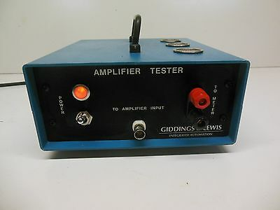 Giddings Lewis integrated Automation Amplifier Tester Electrical Test Equipment