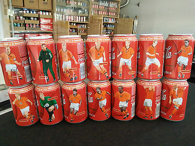 ONE COMPLATE SET 1998 world cup Netherlands team coke cans