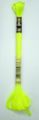 DMC Light Effects Thread E980 Neon Yellow Embroidery Floss, 8m Skein