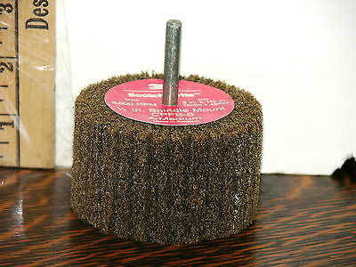 "3M Scotch-Brite Flap Brush Wheel CPFB-S 3"" x 1-3/4"" x shaft 1/4 in Belgium made"
