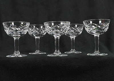 5 x Lead Crystal Port Wine Glasses GREAT CONDITION