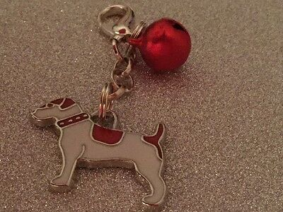 Anti-Theft Purse Bell Charm Jack Russell Dog security Handmade
