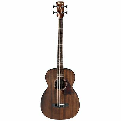 Ibanez PCBE12MH Acoustic/Electric Bass Guitar - Open Pore Natural