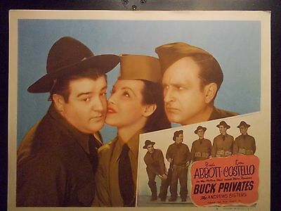 Abbott & Costello Buck Privates Movie poster  Andrews Sisters