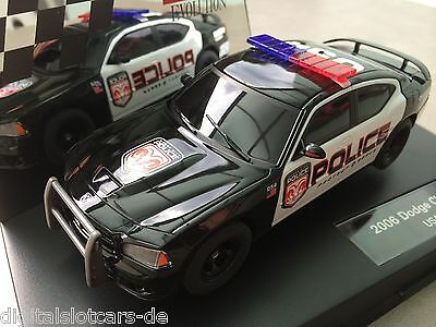 Carrera Evolution 27252 Dodge Charger SRT 8 USA Police Blaulicht 2006 NEU OVP