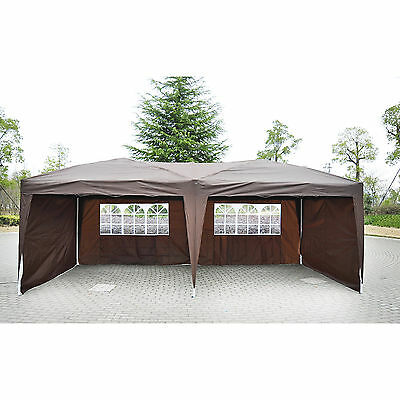 Outdoor 10' X 20' Patio Gazebo POP UP Party Tent Wedding Canopy W/ Carry Case