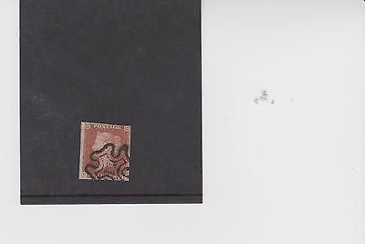 QV 1841 1d red plate 30 lettered PF with double P fine used