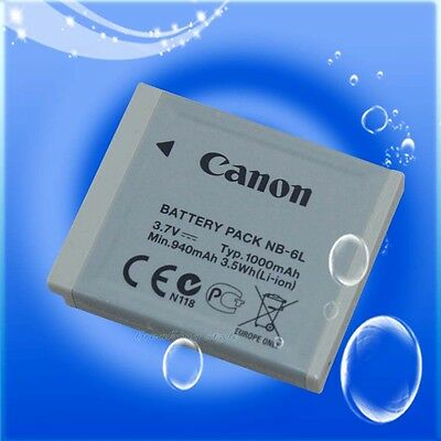 Genuine Original Canon NB-6L NB6L NB-6LH Battery for SD1300is SD980 S90 S95 D10