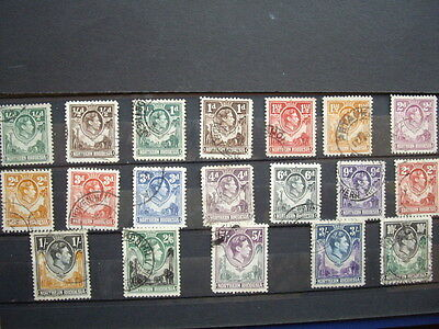 Northern Rhodesia;G6th,1938; Mostly Fine Used(see note below)