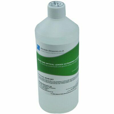 Glass & Optical Lens Ultrasonic Cleaner Fluid Solution Jewellery Spectacles - 1L