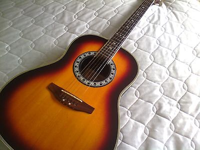 Westfield ovation style electro acoustic guitar
