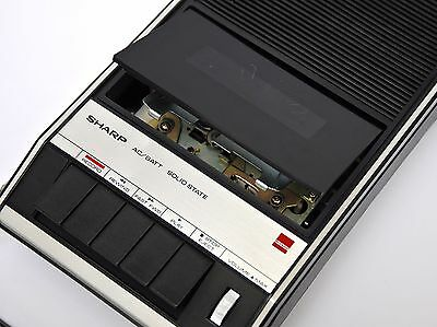 Top Vintage SHARP Portable Cassette Tape Recorder Player RD-429H Box no Boombox