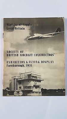 Ministry of Supply S.B.A.C. Exhibition & Flying Display Prog. Farnborough 1951