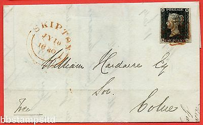 """SG. 2. A1 (2). AS23. """" BL """". 1d black. Plate 4. A very fine used example."""