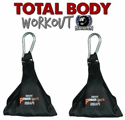 'RIBRAPS' AB Sling Weight Lifting Door Hanging Straps Gym Bar Stomach Fitness