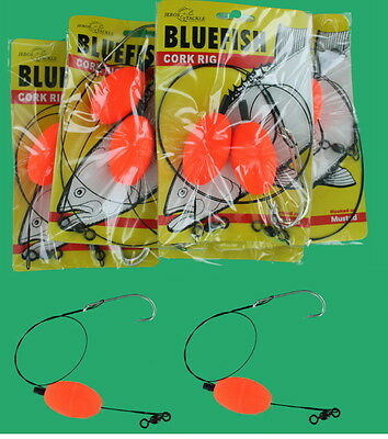 Wire Line BlueFish Fishing Rigs 6 Packs 12 Rigs