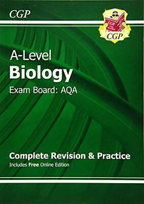 A-Level Biology: AQA Year 1 & 2 Complete Revision & Practice wit... by CGP Books