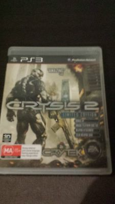 Crysis 2 PS3 game with manual.