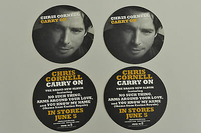 Chris Cornell Carry On Set Of 4 Promotional Coasters Soundgarden