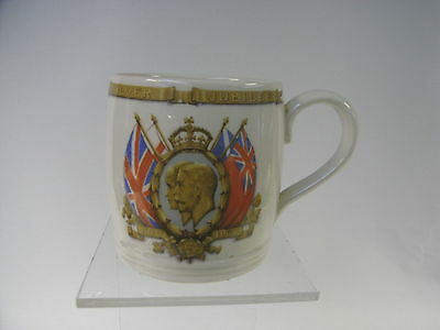 Vintage Myott Pottery George V and Queen Mary Silver Jubilee Mug 1935