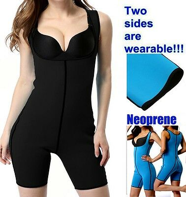 Lady Hot Sweat Full Body Shaper Thermo Sauna Belt Vest Waist Trimmer Yoga UK HT