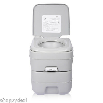 20L Portable Toilet 50 Flushes Potty Caravan Travel Camp Boating Camping Outdoor