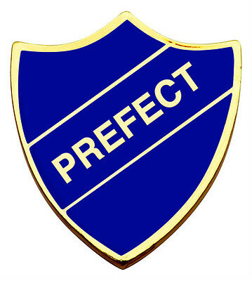 SCHOOL BADGES - PREFECT SHIELD BADGE - Quality, traditional style badge