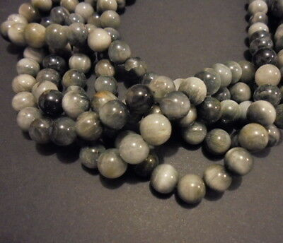LOT 15 PERLE OEIL DE CHAT PIERRE NATURELLE RONDE 7mm NATURAL CAT EYE STONE BEADS
