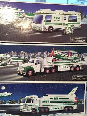 Lot 3 Hess Toy Trucks 1999 1998 2002 Space Shuttle Airplane Van
