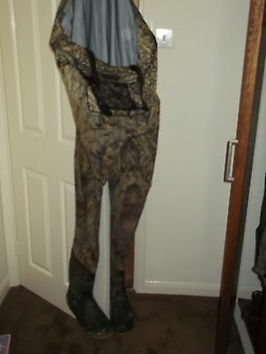 Cabela's camouflage waders with boots