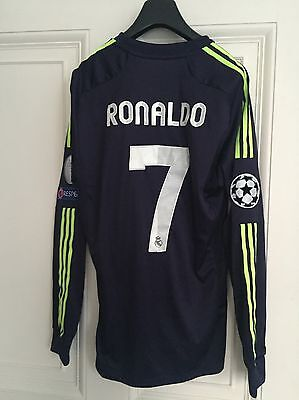 Real Madrid Formotion Player Issue Cl Away Shirt, Long Sleeves, Ronaldo, Large