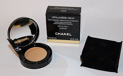 CHANEL Vitalumiere Aqua Teint Compact Creme Make-up Farbt. 50 Beige