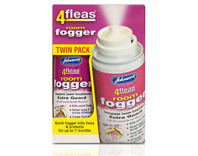 2 Pack - Johnsons 4fleas Room Flea Fogger Killer Bomb Spray House Treatment