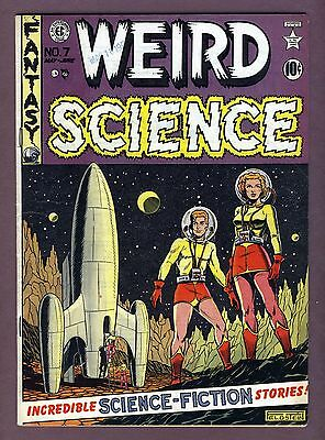 WEIRD SCIENCE #7 (1951) EC Comics Purple cover variant VG+ UNRESTORED.