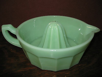Jadeite green Glass lemon Juicer hand reamer jadite jade fruit milk orange dish