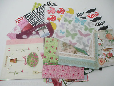 40 x DIFFERENT Paper Napkins MIXED THEMED - Set 11 - DECOUPAGE/CRAFTS/COLLECTORS