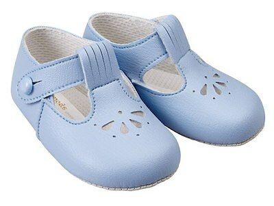 Traditional Baby Romany Spanish Style Sky Blue Soft Soled Shoes by Baypods