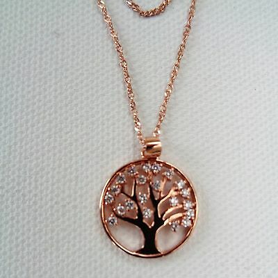 Tree Of Life necklace rose gold finish on sterling silver