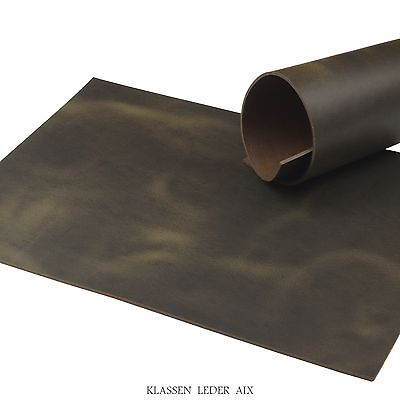 Buffalo Leather Black Brown Pull-Up Finish 3,0 mm A3 Cowhide Croupon 85