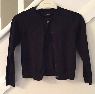 Next Girls Black Cardigan - Age 5 Years - Excellent Condition
